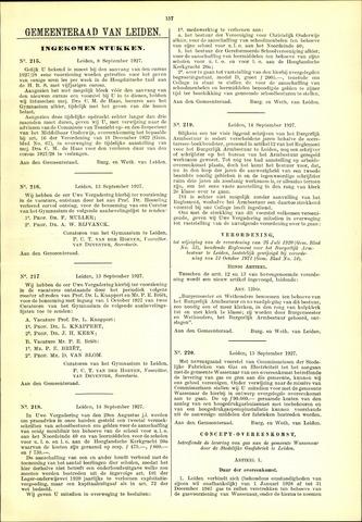 Handelingen van de Raad 1927-09-08