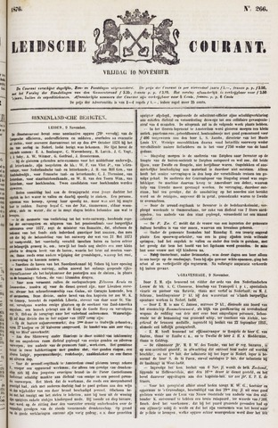 Leydse Courant 1876-11-10