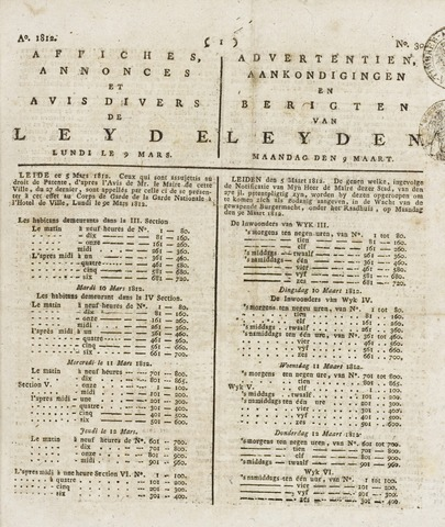 Leydse Courant 1812-03-09