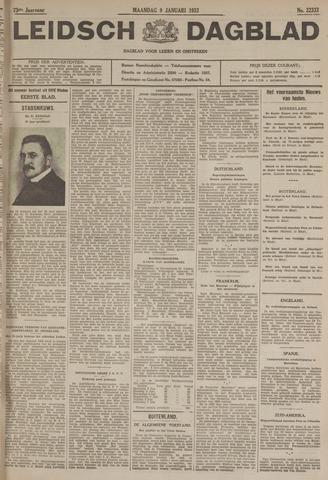 Leidsch Dagblad 1933-01-09