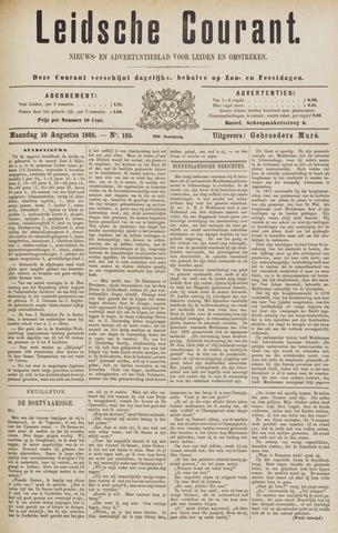 Leydse Courant 1885-08-10