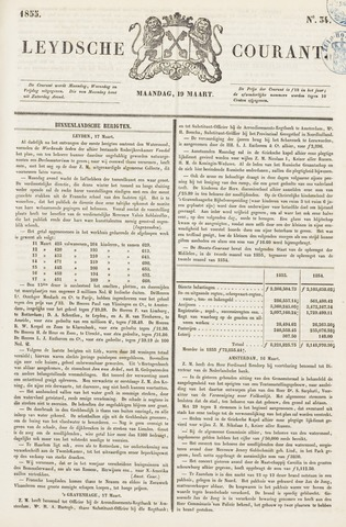Leydse Courant 1855-03-19