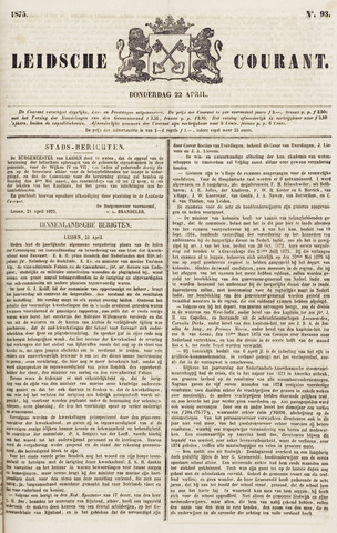 Leydse Courant 1875-04-22