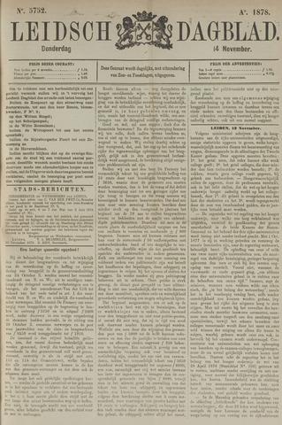 Leidsch Dagblad 1878-11-14