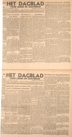 Dagblad voor Leiden en Omstreken 1944-11-27
