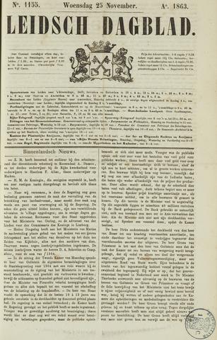 Leidsch Dagblad 1863-11-25