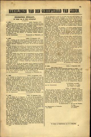 Handelingen van de Raad 1872-09-16
