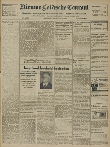 Nieuwe Leidsche Courant 1938-10-29