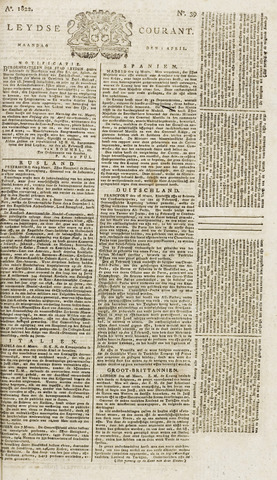 Leydse Courant 1822-04-01