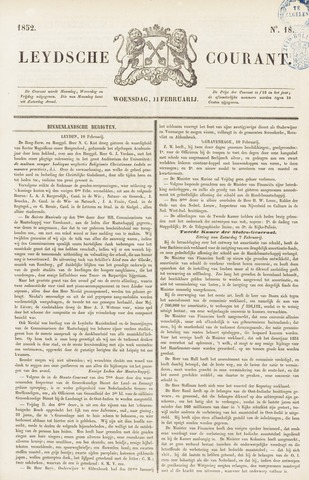 Leydse Courant 1852-02-11