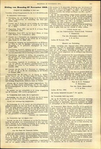 Handelingen van de Raad 1916-11-27