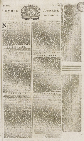 Leydse Courant 1814-10-21