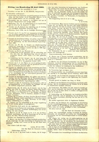 Handelingen van de Raad 1903-07-23