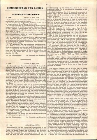 Handelingen van de Raad 1919-04-22
