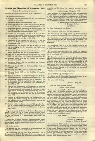 Handelingen van de Raad 1918-08-12