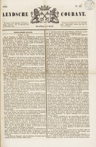 Leydse Courant 1862-07-14