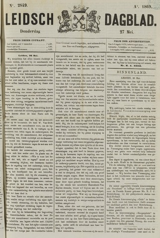 Leidsch Dagblad 1869-05-27