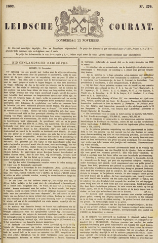 Leydse Courant 1883-11-22