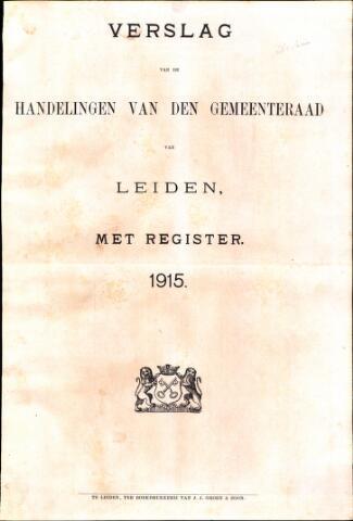 Handelingen van de Raad 1915-01-01