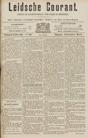 Leydse Courant 1885-10-23