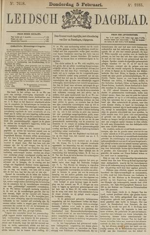 Leidsch Dagblad 1885-02-05