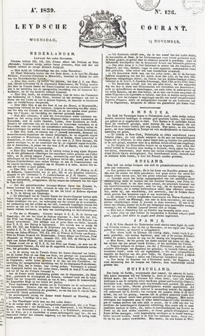 Leydse Courant 1839-11-13