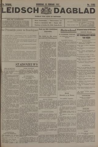 Leidsch Dagblad 1937-02-10