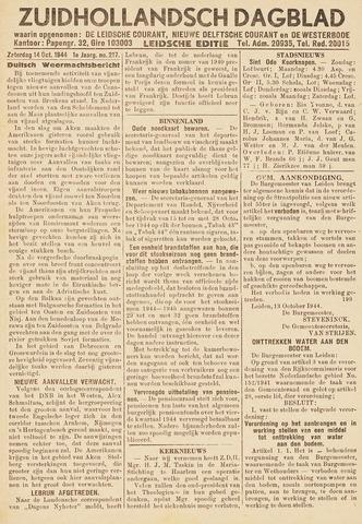 Zuidhollandsch Dagblad 1944-10-14