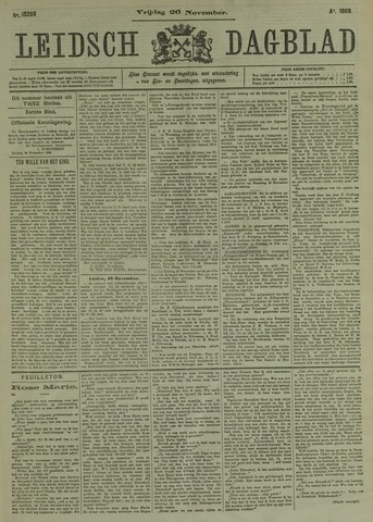 Leidsch Dagblad 1909-11-26