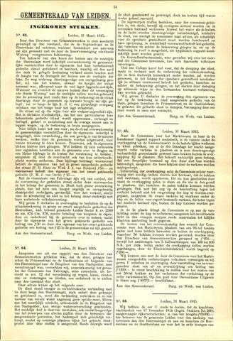 Handelingen van de Raad 1915-03-31
