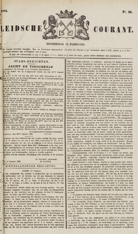Leydse Courant 1885-02-12
