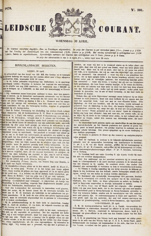 Leydse Courant 1879-04-30