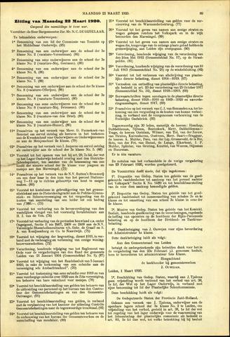 Handelingen van de Raad 1920-03-22