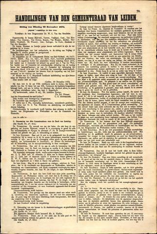 Handelingen van de Raad 1874-12-29