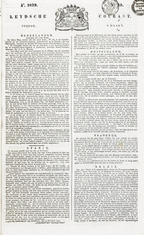 Leydse Courant 1839-03-08