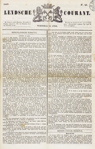 Leydse Courant 1869-04-14