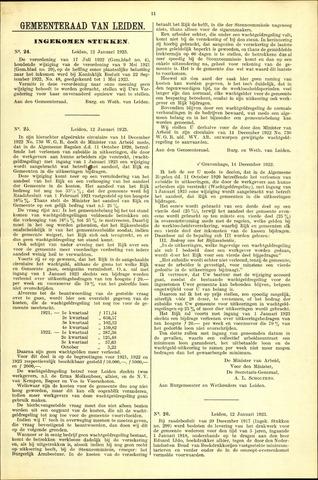 Handelingen van de Raad 1923-01-12