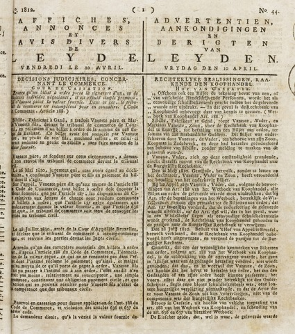 Leydse Courant 1812-04-10