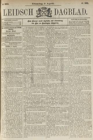 Leidsch Dagblad 1892-04-05