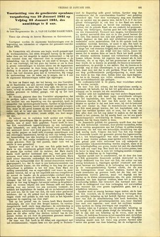 Handelingen van de Raad 1931-01-23
