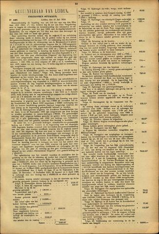 Handelingen van de Raad 1889-07-31