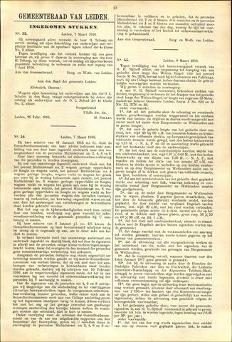 Handelingen van de Raad 1916-03-07