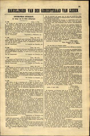 Handelingen van de Raad 1873-05-31