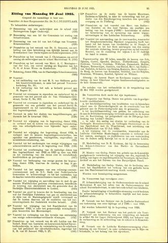 Handelingen van de Raad 1925-06-29