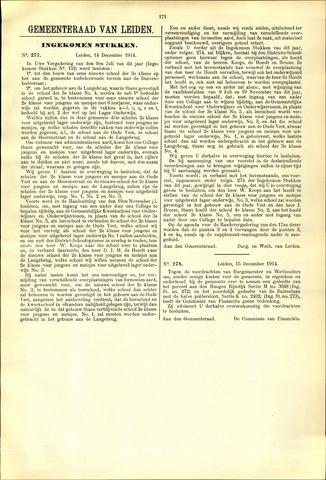 Handelingen van de Raad 1914-12-14