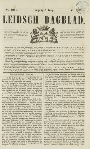 Leidsch Dagblad 1863-07-03