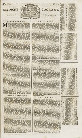 Leydse Courant 1826-04-07