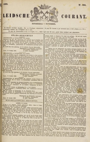 Leydse Courant 1883-11-01