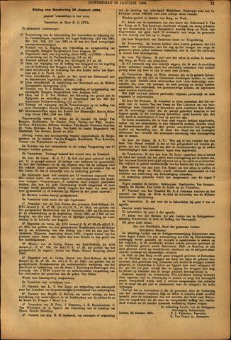 Handelingen van de Raad 1894-01-25