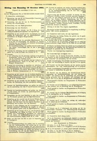 Handelingen van de Raad 1931-10-19